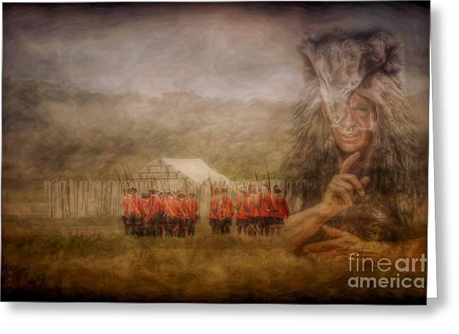 The American Dream Digital Art Greeting Cards - The British Are Here Greeting Card by Randy Steele