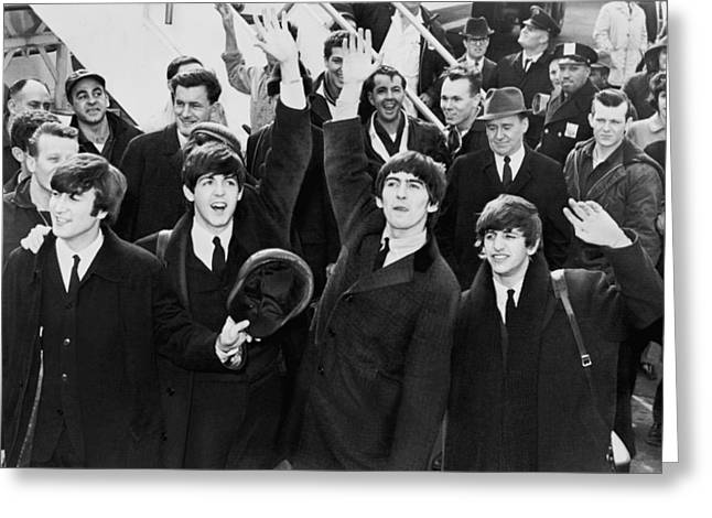 Ringo Starr Greeting Cards - The British Invasion 1964 Greeting Card by Mountain Dreams