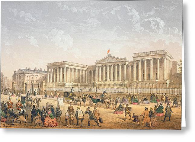 Russell Greeting Cards - The British Museum, C.1862 Greeting Card by Achille-Louis Martinet