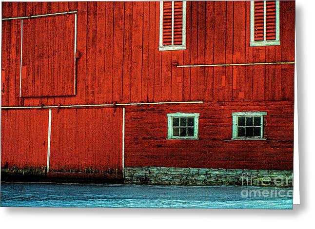 Pa Barns Greeting Cards - The Broad Side of a Barn Greeting Card by Lois Bryan
