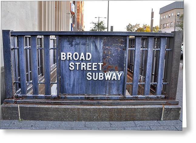 Broad Street Digital Art Greeting Cards - The Broad Street Subway Greeting Card by Bill Cannon