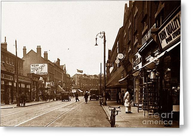 Wimbledon Photographs Greeting Cards - The Broadway Wimbledon London England Greeting Card by The Keasbury-Gordon Photograph Archive
