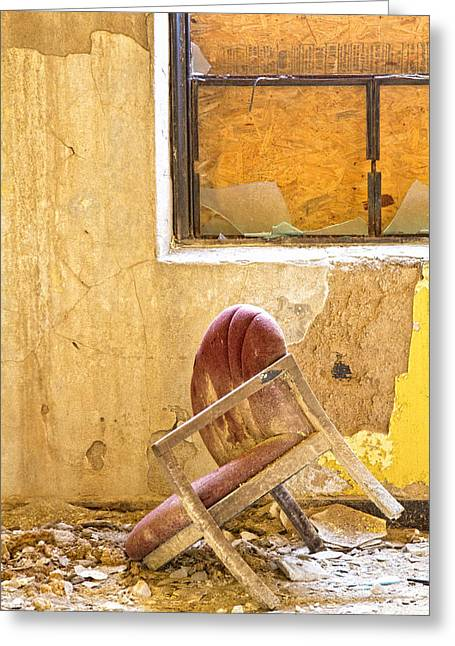 The Broken Chair Greeting Card by Carolyn Fox