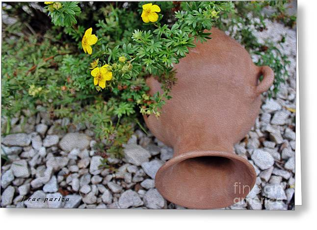 Broken Vase Greeting Cards - The Broken Vessel Greeting Card by Janice Rae Pariza