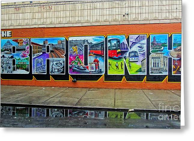 The Bronx Greeting Cards - The Bronx Graffiti Greeting Card by Nishanth Gopinathan