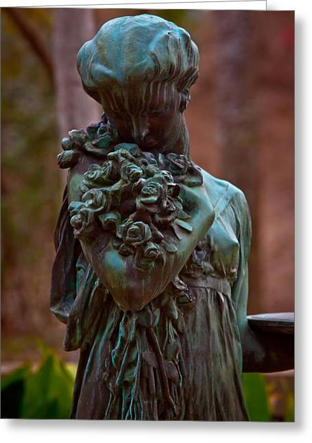 Life-size Greeting Cards - The Bronze Angel Greeting Card by Linda Unger