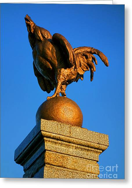 National Symbol Greeting Cards - The Bronze Rooster Greeting Card by Olivier Le Queinec