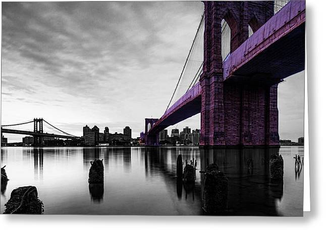 The Brooklyn Bridge Greeting Card by Brian Reaves