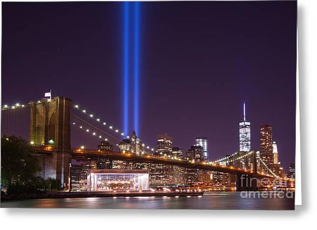 Manhatan Greeting Cards - The Brooklyn Bridge  Greeting Card by Michael Ver Sprill