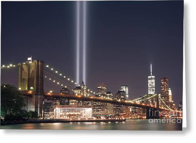 Manhatan Greeting Cards - The Brooklyn Bridge version 2 Greeting Card by Michael Ver Sprill
