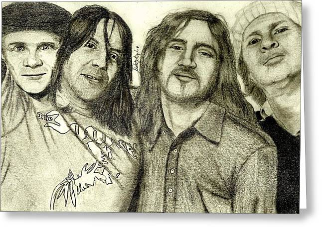 Rhcp Greeting Cards - The Brothers Cup Greeting Card by Nataly Ayala