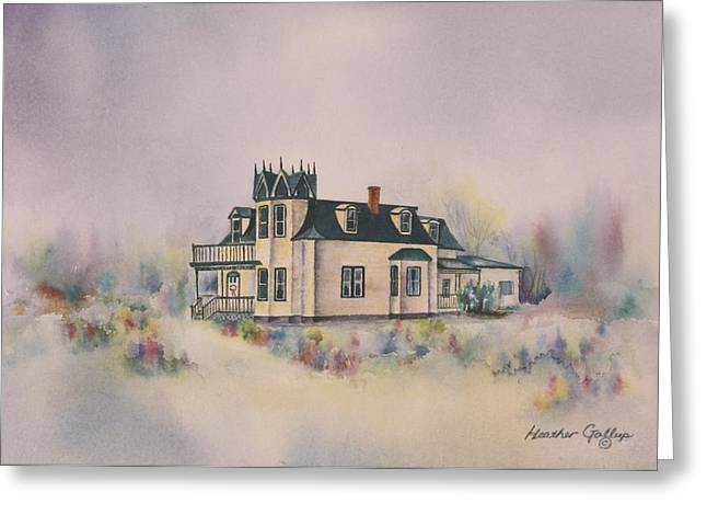Clapboard House Paintings Greeting Cards - The Browns Residence Greeting Card by Heather Gallup