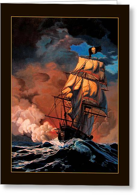 Book Cover Art Greeting Cards - The Buccaneers Greeting Card by Patrick Whelan