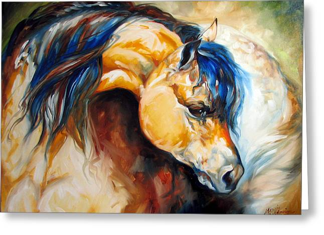 Buckskin Horse Greeting Cards - The Buckskin Greeting Card by Marcia Baldwin