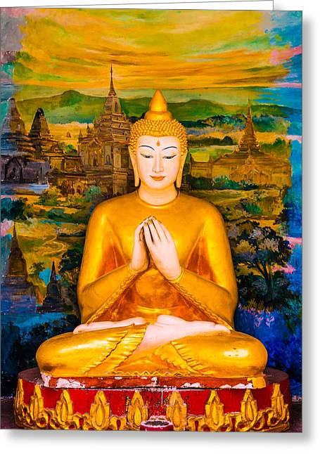 Religiious Greeting Cards - The Buddha Greeting Card by Paul Donohoe