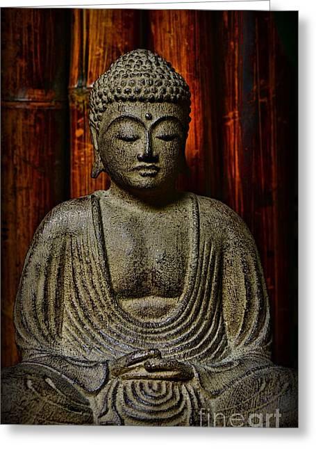 Gautama Greeting Cards - The Buddha Greeting Card by Paul Ward