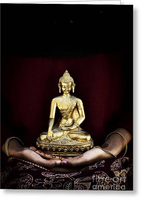 Meditate Greeting Cards - The Buddha Within  Greeting Card by Tim Gainey