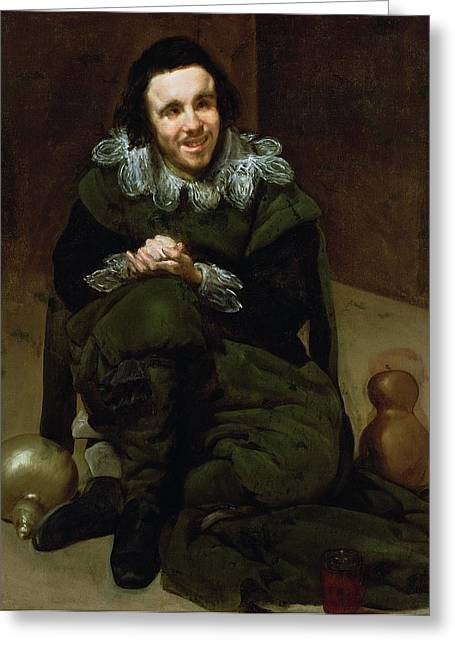 Jester Greeting Cards - The Buffoon Calabacillas, Mistakenly Called The Idiot Of Coria, 1639 Oil On Canvas Greeting Card by Diego Rodriguez de Silva y Velazquez
