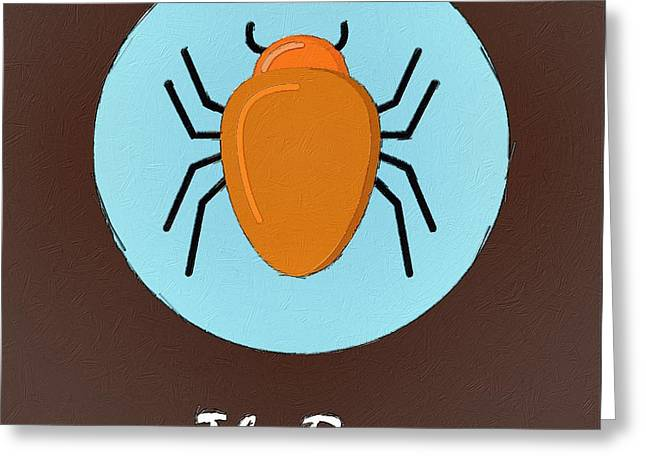Suburban Posters Greeting Cards - The Bug Cute Portrait Greeting Card by Florian Rodarte