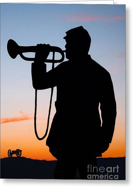 Anti-slavery Greeting Cards - The Bugler Greeting Card by Karen Lee Ensley