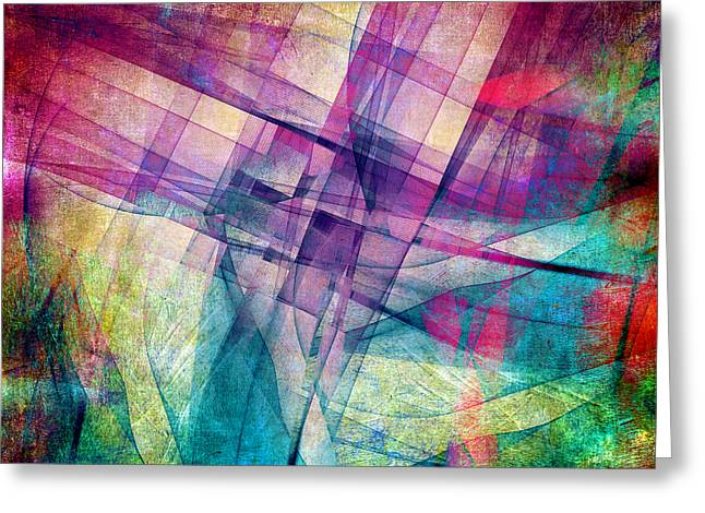 Colorful Geometric Greeting Cards - The Building Blocks Greeting Card by Angelina Vick