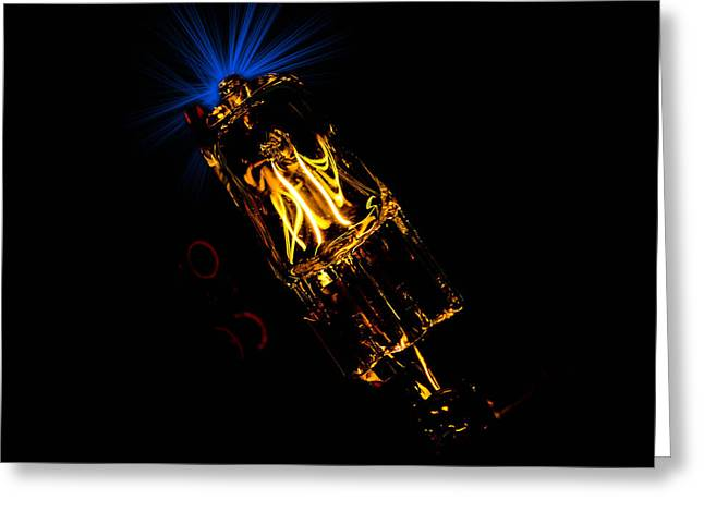 Halogen Greeting Cards - The bulb experiments Greeting Card by Toppart Sweden