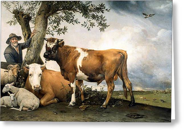Master Potter Greeting Cards - The Bull  Greeting Card by Paulus Potter