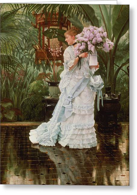 Kathleen Greeting Cards - The Bunch Of Lilacs, C.1875 Greeting Card by James Jacques Joseph Tissot