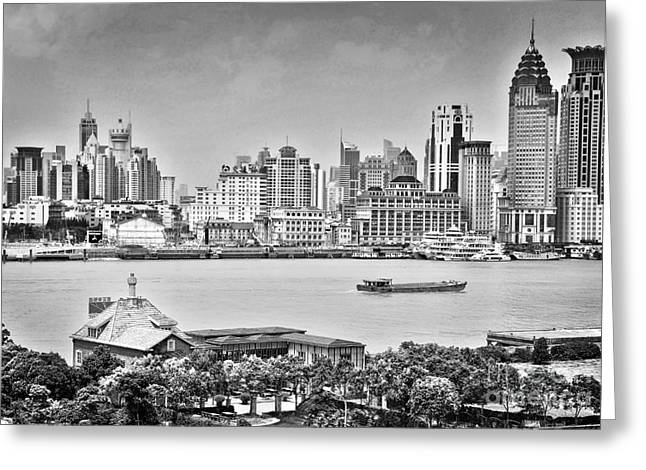 Bund Shanghai Greeting Cards - The Bund Greeting Card by Delphimages Photo Creations