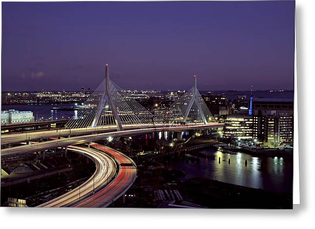 Bunker Hill Greeting Cards - The Bunker Hill Bridge in Boston Greeting Card by Mountain Dreams