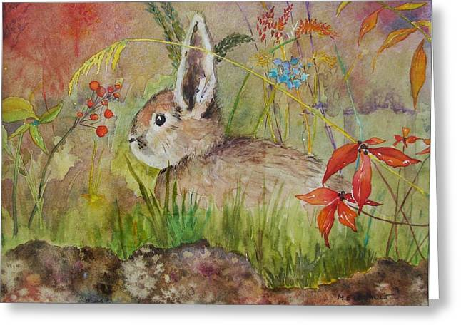 Storybook Greeting Cards - The Bunny Greeting Card by Mary Ellen  Mueller Legault