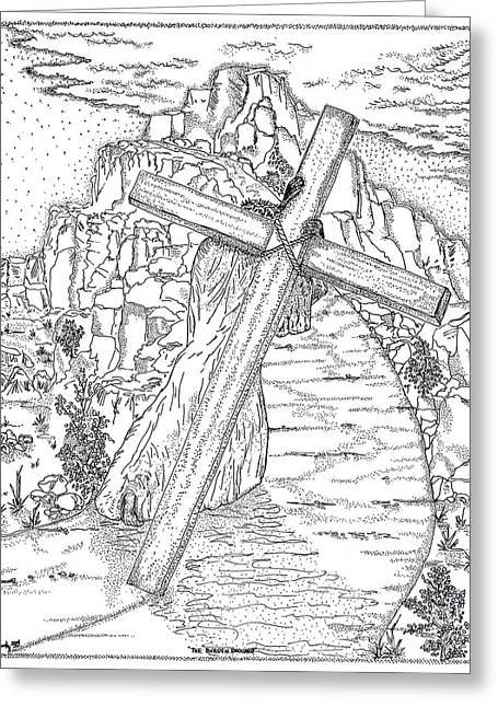 Jesus Christ Icon Greeting Cards - The Burden Endured Greeting Card by Glenn McCarthy Art and Photography