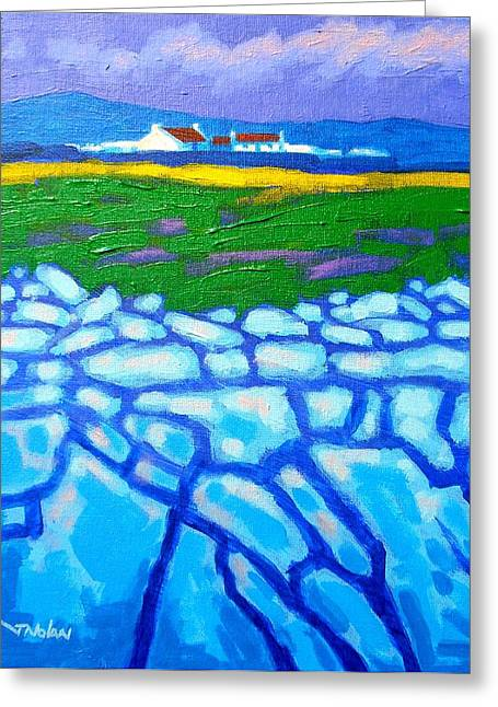 Mountain Greeting Cards Greeting Cards - The Burren County Clare Ireland Greeting Card by John  Nolan