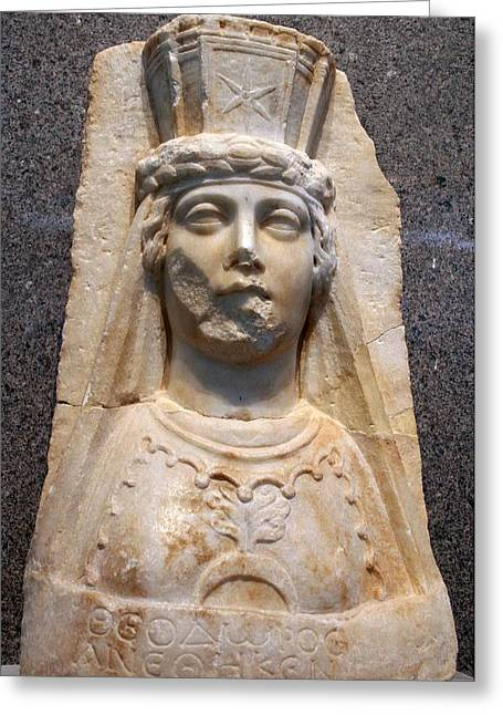 Roman Citizen Greeting Cards - The Bust of Aphrodite Greeting Card by Tracey Harrington-Simpson