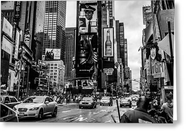 Crosswalk Greeting Cards - New York Times Square Greeting Card by Collective Memories