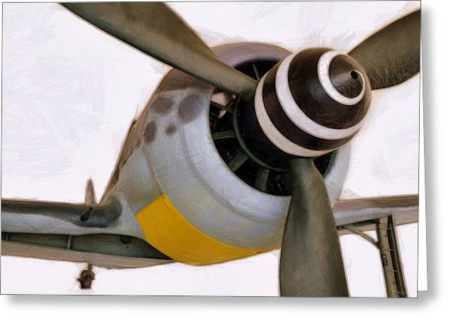 Plane Engine Greeting Cards - The Butcher Bird Greeting Card by Michelle Calkins