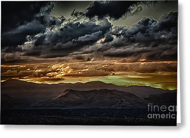 Consequences Greeting Cards - The Butte Greeting Card by Dee Johnson