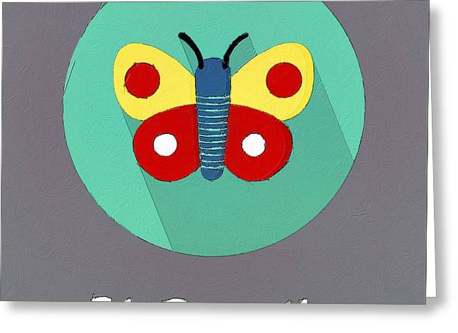 Suburban Posters Greeting Cards - The Butterfly Cute Portrait Greeting Card by Florian Rodarte