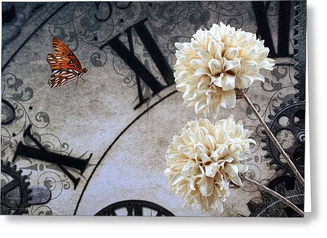 Ripple Space Time Greeting Cards - The Butterfly Effect Greeting Card by Chrystyne Novack