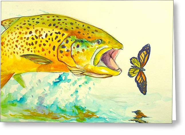 Spotted Trout Greeting Cards - The Butterfly Effect  Greeting Card by Yusniel Santos