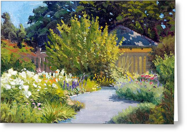 Charlotte Greeting Cards - The Butterfly Garden Greeting Card by Armand Cabrera