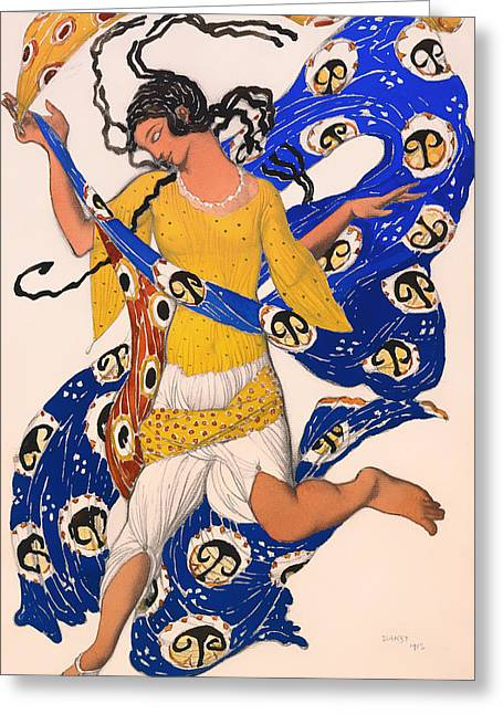 Braided Hair Greeting Cards - The Butterfly Greeting Card by Leon Bakst