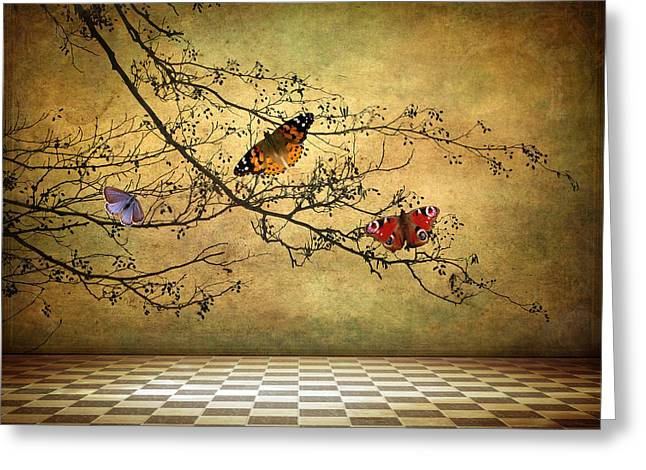 Imagination Greeting Cards - The Butterfly Room Greeting Card by Jessica Jenney