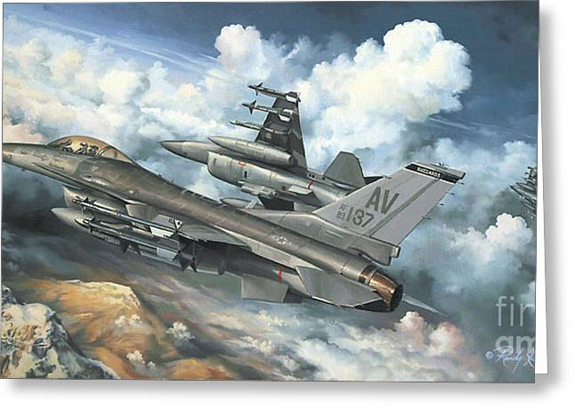 The Buzzard Boys From Aviano Greeting Card by Randy Green