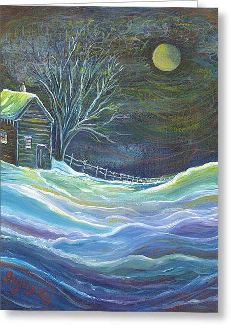 The Cabin Greeting Card by Beckie J Neff