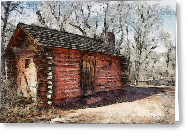 The Cabin Greeting Card by Ernie Echols