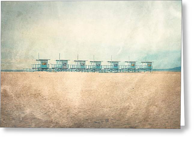 The Cabins Greeting Card by Nastasia Cook