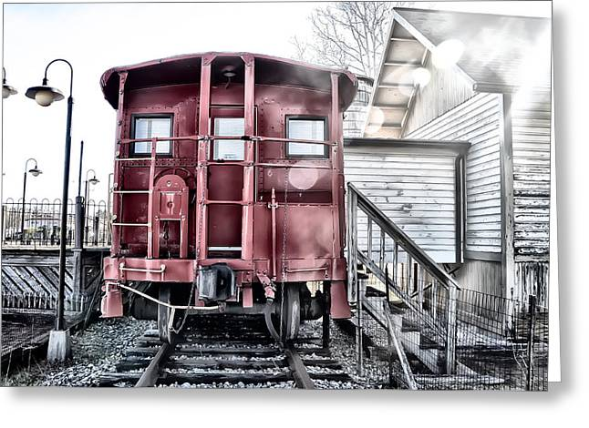 The Caboose Greeting Card by Bill Cannon