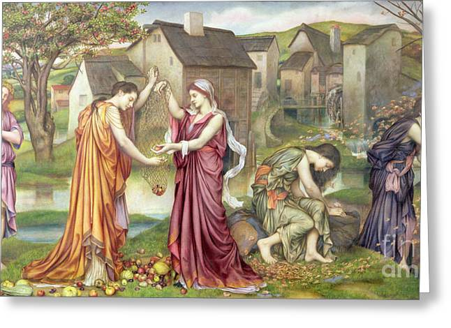 Bohemian Greeting Cards - The Cadence of Autumn Greeting Card by Evelyn De Morgan