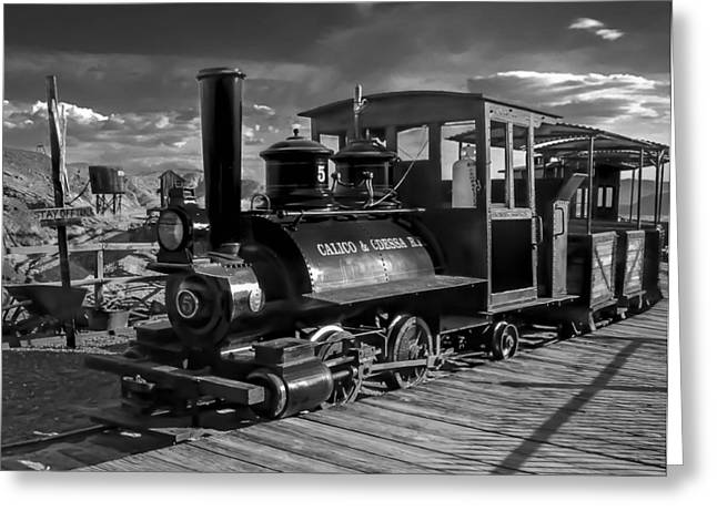 Yermo Greeting Cards - The Calico Express Greeting Card by Gina Graves